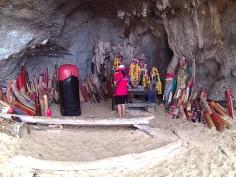 Símbolos de fertilidade na Pranang Cave