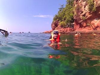 Parada para snorkeling