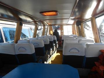 Barco utilizado no Lago Titicaca