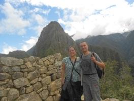 Wayna Picchu ao fundo - conseguimos!