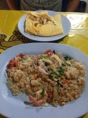 Bangcoc - sim, tem Pad-thai dentro do omelete!