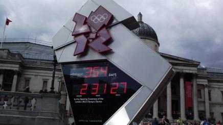 Relógio de contagem regressiva para as Olimpíadas de Londres