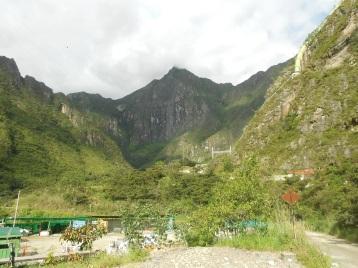 Vista de Machu Picchu da Hidrelétrica