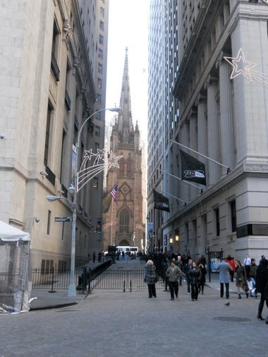 Trinity Church vista da Wall Street