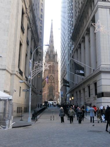 Trinity Church vista da Wall Street