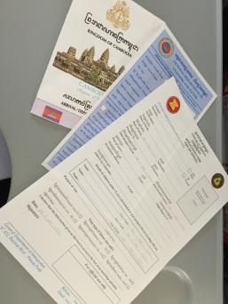 Formulários para Imigração e VIsto do Camboja
