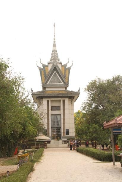 Memorial Stupa no Killing Field of Choeung Ek