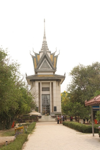 Memorial Stupa no Killing Field of Choeung Ek