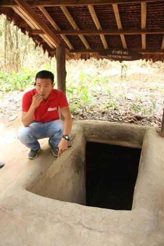 Exemplo de túnel, onde pudemos entrar