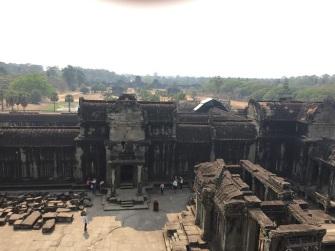 Visão de cima do Angkor Wat