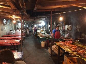 Buffet no Night Market