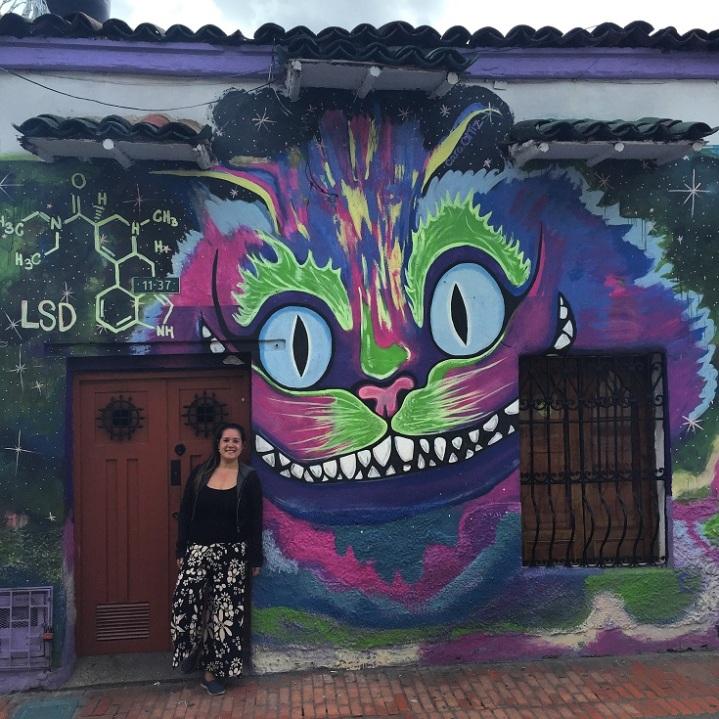 Grafite na rua do nosso hostel