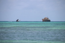 Navio naufragado em Rocky Cay