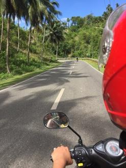 Percurso de ida até a Kawasan Falls