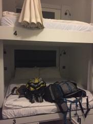 Cabine em quarto compartilhado