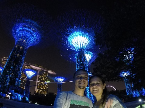 Gardens by the Bay a noite