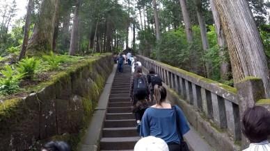 Subida até o topo do Templo Toshugo