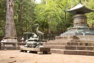 Estátuas no topo do templo
