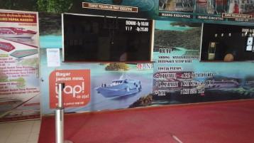 Bilheteria para comprar o ferry de Sorong até Waisai