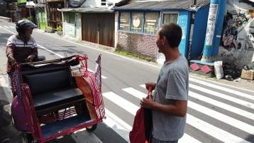 Moto-carroça que usamos para o tour pela manhã