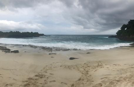 Sandy sand beach