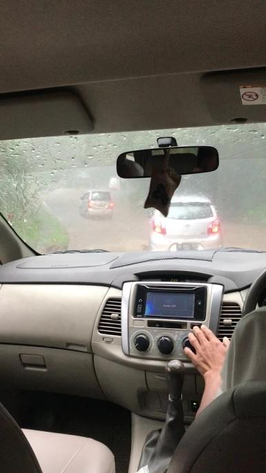 Muita chuva no percurso até Munduk